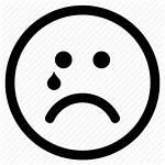 Sad Emoji Face Icon Crying Emoticon Circle