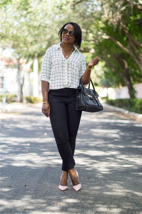 Classic work outfit with black pants