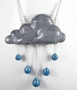 Rainy Day Rain Cloud Necklace by NeverlandJewelry on