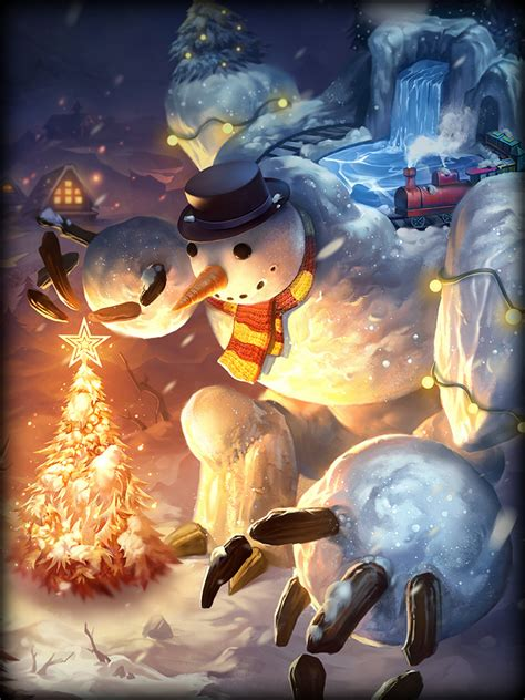 smite snowman skins geb patch holiday game adds card gamespot kitty updated mode god hi