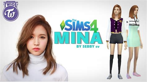 The Sims 4  Mina [twice] Create A Sim Youtube