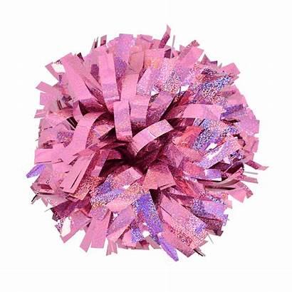 Pom Pink Holographic Metallic Poms Cheer Cheerleading