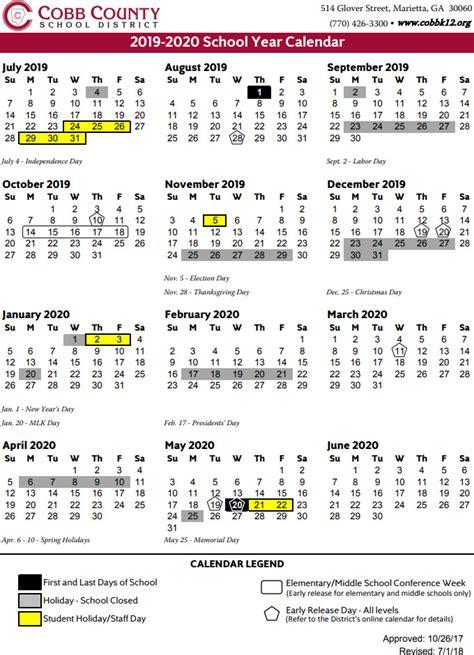 cobb county school calendar mariettacom