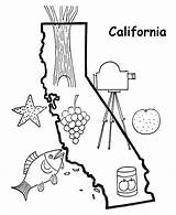 California Coloring Map Outline State Printables Drawing Shape States Ages Demographic Sketch Getdrawings sketch template