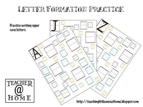 letter formation practice upper case teacherathome