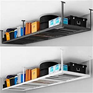 Rangement Suspendu Plafond Garage : newage products overhead storage rack ~ Melissatoandfro.com Idées de Décoration