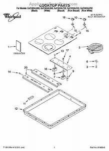 Parts For Whirlpool Gjc3034lp02  Cooktop Parts  Optional