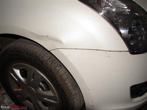 swift fender bumper damaged repair repaint team bhp