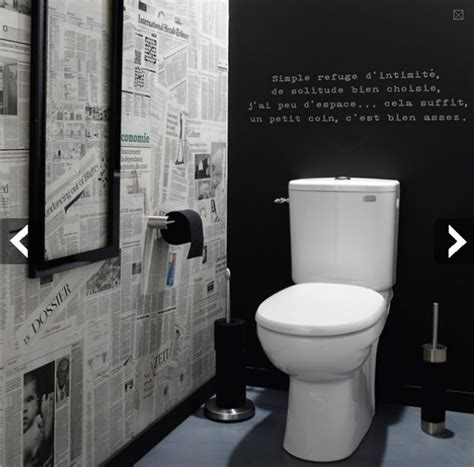 papier peint pour wc toilettes