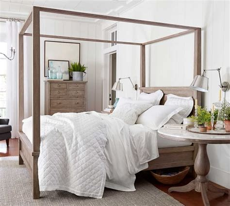 Farmhouse Canopy Bed  Pottery Barn