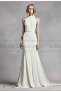 white by vera wang high neck halter wedding dress vw351263 With high neck halter wedding dress