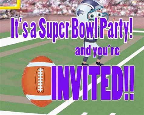 Super Bowl Invite Free Party Invitations Ecards Greeting