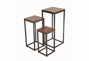 Sellette Pour Plante : sellette palissandre fer forg moyen mod le ~ Premium-room.com Idées de Décoration