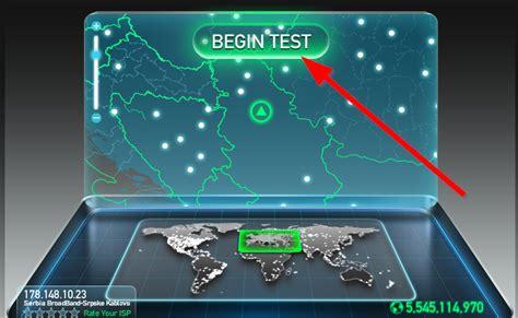 Testirajte brzinu svoje Internet konekcije - SpeedTest