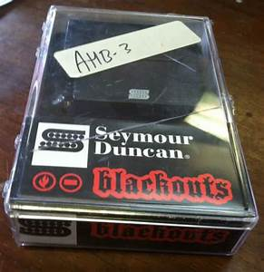 Seymour Duncan Blackouts Ahb  All Pots And Wiring