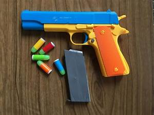 Rubber Bullet Toy Gun Set - Colt 1911 and .45 Revolver | eBay