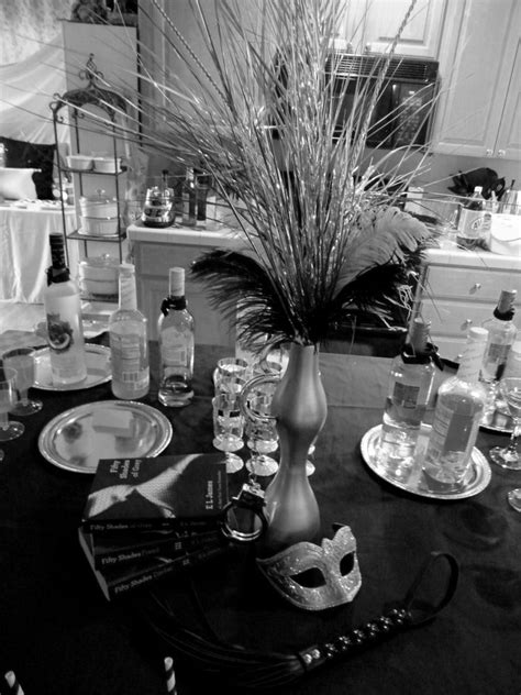 Centerpiece for 50 Shades party | 40th birthday | 50