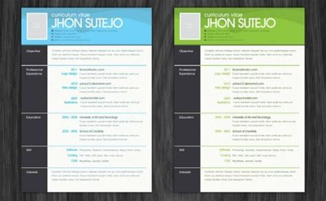 Photoshop Resume Template Free by Free Resume Photoshop Templates Career Trends
