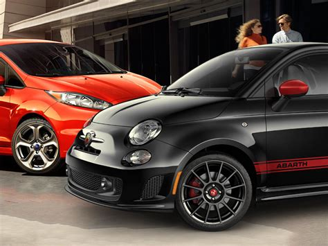 Fiat 500 Vs Abarth by Versus Ford St Vs Fiat 500 Abarth Web2carz