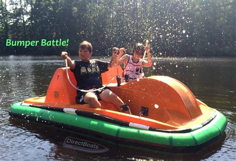 Yellow Boat Bumpers by Bumper Battle Pedal Boat