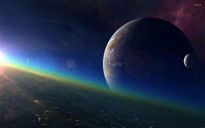 Horizon Space Planet Wallpapers Galaxy Galaksi Luar