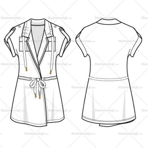womens utility top fashion flat template illustrator stuff