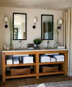 salle de bain rustique un decor relaxant et chaleureux With salle de bain design avec décoration cerf en bois