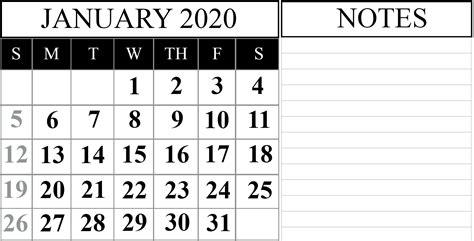 january printable calendar template word excel