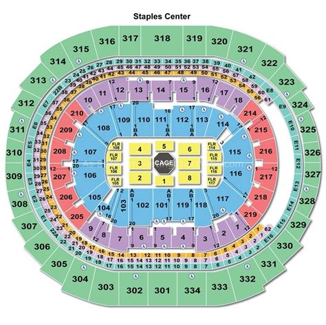 Staples Center, Los Angeles Ca  Seating Chart View
