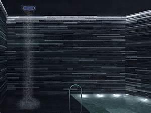 tete de douche avec eclairage integre sandwich colours With carrelage adhesif salle de bain avec led fibre optique