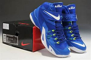 Latest Lebron James Soldier 8 Blue White Basketball Shoes ...