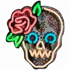 DIA DE LOS MUERTOS DAY OF THE DEAD skull neon sign