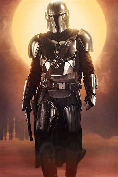 Textless Mandalorian Resolution Posters Character Versions Poster