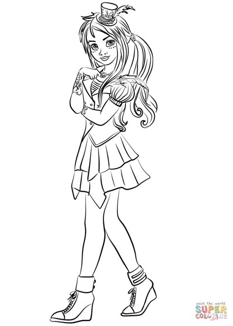 top  descendants wicked world coloring pages