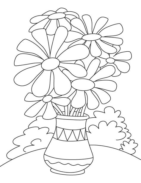 Coloring Page Flower Pot by Flower Pot Coloring Page Vocales