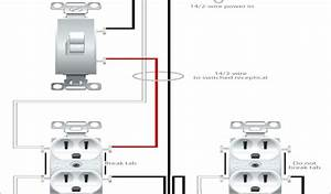 Split Wired Receptacle 2 Way Switch With Electrical Outlet Wiring Diagram How To Wire Outlet