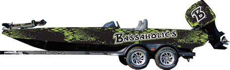 Bass Tracker Boat Graphics by Bass Boat Wraps Bassaholics Apparel