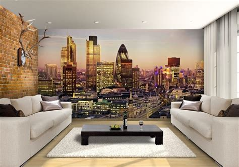 city  london skyline custom wallpaper mural print