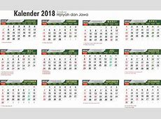 Template Kalender 2018 Lengkap Hijriyah Dan Jawa GRATIS