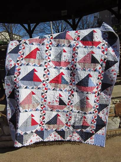 Quilt Boat Sail Sailboat Finished Square Binding