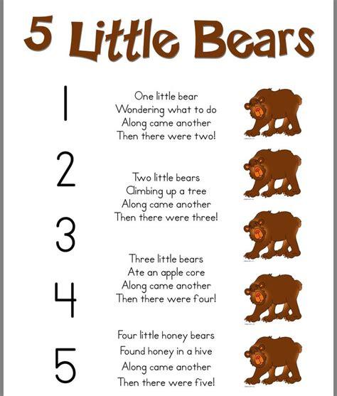 5 bears poem preschool activities bears 584   5fea2931ff1889a0feb4d44229077360