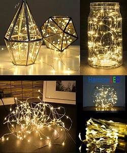 Solar Party String Lights 100 5m 50 Led Battery Multi Color Ultra Thin Copper Wire