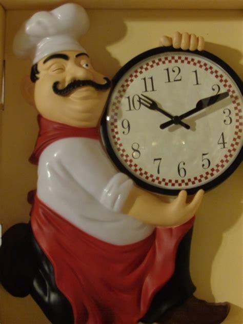 Fat Italian Chef Kitchen Wall Clock