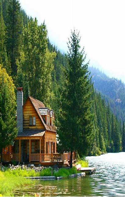 Cabin Lake Cabins Woods Homes Perfect Country