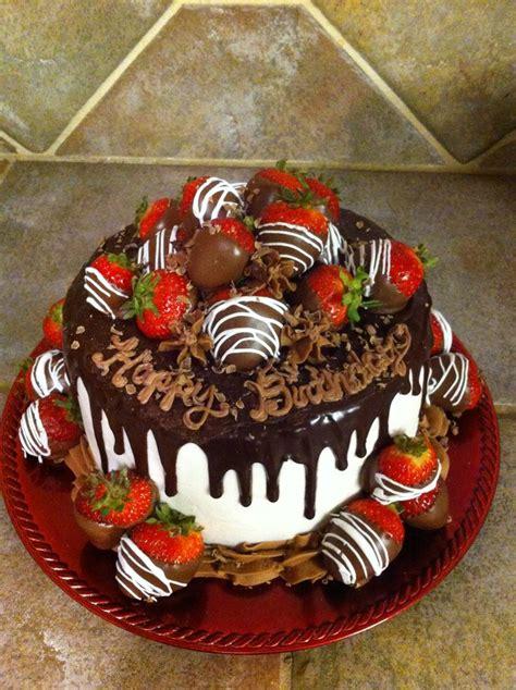 chocolate covered strawberries birthday cake cakes