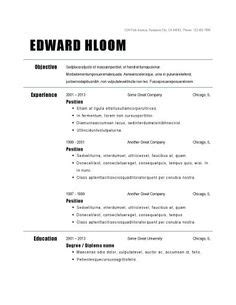 Chronological Resume Generator by Traditional Elegance Free Resume Template By Hloom