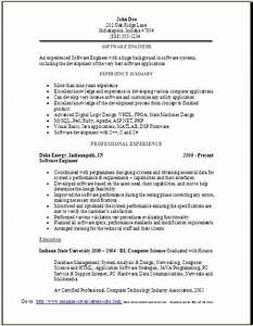 Samples Of Objectives Software Engineer Resume Sample Occupational Examples