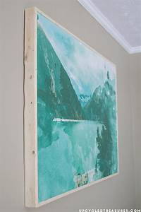 How to frame plywood wall art