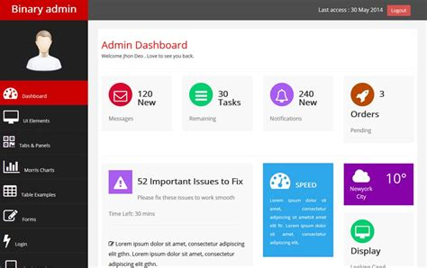twitter bootstrap html templates free download 100 best free bootstrap admin templates 187 css author