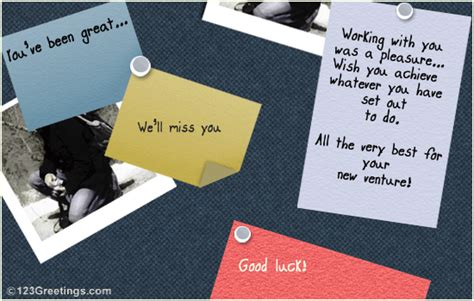 farewell card   colleague  farewell ecards greeting cards